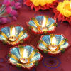 Flower Shape Clay Diyas