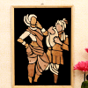 Folk Dance Performance Wooden Relief Painting