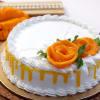 Fresh One Kg Mango Cream Cake with Flower Topping