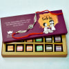 Ganesha Face Dial Rakhi with 12 Pcs. Flavored Chocolates