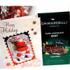 Ghirardelli Dark Mint Chocolate with Christmas Card