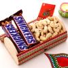 Gift box of Chocolate, Cashew and Bhaidooj Tikka