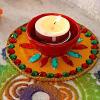 Glittering Decorated Diwali Diya