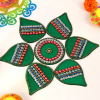 Gorgeous Pan Shaped Rangoli