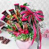 Buy Gourmet Chocolates with Gypso in Rose Gold Vase