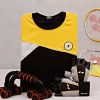 Gym T-shirt With Push-up Bars & Gloves