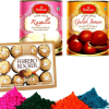 Haldiram Gulab Jamun & Rasgulla with Holi Colors and Chocolate