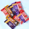 Shop Hamper of Assorted Chocolate Bars & Clay Diyas