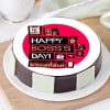 Happy Boss's Day Poster Cake (Half Kg)