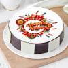 Happy Diwali Crackers Poster Cake (Eggless) (Half Kg)