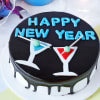 Happy New Year Chocolate Cake (Eggless) (1 Kg)