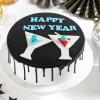 Happy New Year Chocolate Cake (Eggless) (Half Kg)