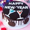 Happy New Year Oreo Cake (Eggless) (Half Kg)