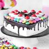 Gift Heart Black Forest Gems Cake (Half Kg)