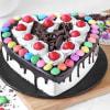 Buy Heart Black Forest Gems Cake (Half Kg)