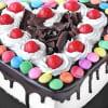 Shop Heart Black Forest Gems Cake (Half Kg)