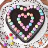 Buy Heart Chocolate Gems Cake (2 Kg)