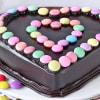 Shop Heart Chocolate Gems Cake (2 Kg)
