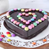 Heart Chocolate Gems Cake (Half Kg)