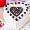 Heart Coffee Cake (Eggless) (1Kg)