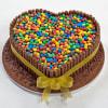 Heart Shape Fondant Cake with Gems (3 Kg)