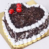 Heart Shaped Black Forest Cake (Half Kg)