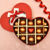 Heart Shaped Box of 13 pc. Dark and Milk Chocolates