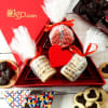 Heart Shaped Chocolates and Cookies in Gift Box
