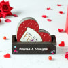 Buy Heart Shaped Love Coasters with Personalized Holder