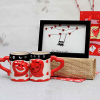 Heart Shaped Mug Set with Love Photo Frame