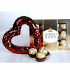 Heart Shaped Wall Hanging with Ferrero Rocher Chocolate