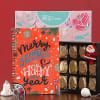 Homemade Chocolate Box with Funky Notebook and X-mas Decoration in Giftbox