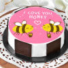 Honey Bees Proposal Cake (Half Kg)
