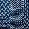 Gift Indigo Blue Patch Design Block Print Double Bed Cotton Quilt
