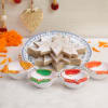 Kaju Katli 500 Gms With Earthen Diyas
