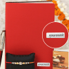 Kundan Rakhi with Shubhkamnaye Red Diary & Personalized Pen