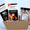Lind Dark Chocolates with Almonds in a Gift Basket