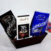 Lindt Smooth Dark Chocolates Hamper in a Gift Basket