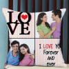 Love Forever Personalized Pillow