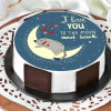 Love You To The Moon Cake (1 Kg)