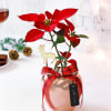 Gift Magic of Christmas in Rose Gold Vase