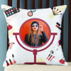 Makeup Themed Personalized Cushion