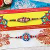 Marvelous Bead Work Rakhi Set