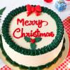 Merry Christmas Butterscotch Cake (Eggless) (1 Kg)