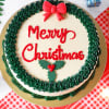 Gift Merry Christmas Butterscotch Cake (Half Kg)