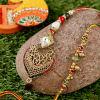 Metallic & Bead Bhaiya Bhabhi Rakhi