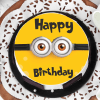 Buy Minion Birthday Cake (Eggless) (Half Kg)