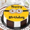Minion Birthday Cake (Eggless) (Half Kg) Online