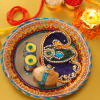 Mirror Base Decorated Tikka Thali
