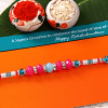 Multicolored Crystal Beaded Rakhi